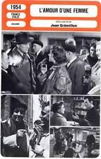 L'AMOUR D'UNE FEMME - Presle,Morlay (Fiche Cinéma) 1954 - The Love Of A Woman
