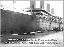 Photo Close View: RMS Titanic At Thompson Dry Dock  Summer, 1911