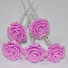 LOT 5 épingles à cheveux roses fleur accessoires pour mariage mariée de qualité