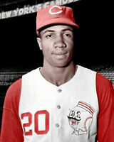 Frank Robinson #2 Photo 8x10 - Reds  COLORIZED