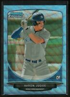 2013 Bowman Chrome AARON JUDGE BLUE WAVE REFRACTOR #19 NY Yankees Rookie Card RC