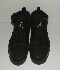 Nike Air Jordan Fight Club 91 Black Gold Basketball Shoes Sz 11.5 555475 031