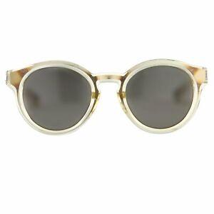 Kris Van Assche Sunglasses Oval Yellow and Dark Grey
