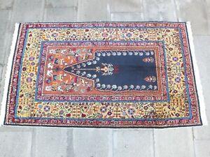 Antique Rug 2.9x5.1 ,Turkish Rug,Floor Rug,Old Rug,Boho Decor Rug,Orange Rug.