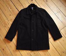 Button Overcoat Funnel Neck Regular Coats & Jackets for Men