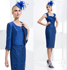 Blue Mother of the Bride Dress Formal Suits With Lace Mother Gowns For Evening