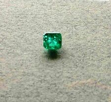 "ONE COLOMBIAN EMERALD FACETED 5x3mm SQUARE GEMSTONE 0.46ct  BEAUTIFUL ""jardin"""