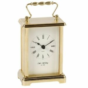 Stunning Gold Carriage Clock - Anniversary Clock with Gold Handle