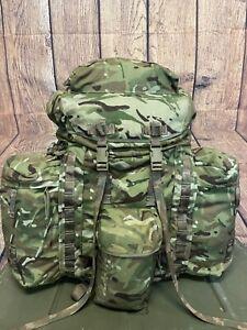 Army Infantry Bergen Rucksack MTP Camo 120Lt Short Back & Side Pouches