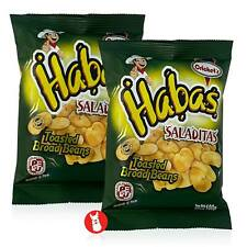 CRICKET'S Habas Saladitas | Toasted Haba Beans 2 Packs of 100g | Product of Peru
