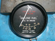 ww2 raf hurricane replica fuel gauge 35gallon
