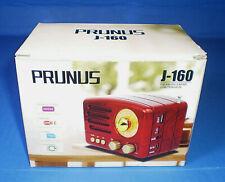 PRUNUS J160 Bluetooth Speaker FM AM SW Radio Retro Rechargable USB MP3 Woodgrain