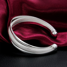 Silver Plated Bracelet Sexy Chic Women Jewelry Cuff TOP Hot Sale Open Bangle t
