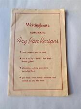 WESTINGHOUSE AUTOMATIC FRY PAN RECIPES BOOKLET FRENCH ENGLISH