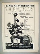 """The Kinetic Art"" Film Series Print Ad - 1968"