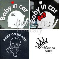 Baby on Board  Sticker Vinyl Decal Car Laptop Window Wall Bumper Decor Gift