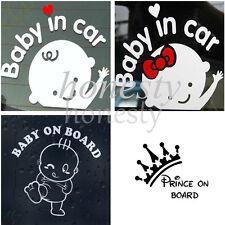 2PCS Baby on Board  Sticker Vinyl Decal Car Laptop Window Wall Bumper Decor Gift
