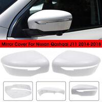 Left / Right Door Wing Mirror Cover Casing Cap Trim For Nissan Qashqai J11 14-18