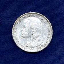 NETHERLANDS  WILHELMINA I   1892  1 GULDEN  SILVER COIN  VF/XF