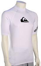 59c897b9b4 Quiksilver All Time Short Sleeve UPF 50 Rashguard Eqywr03033 White L
