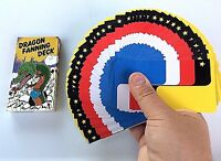 1 DRAGON FANNING DECK Playing Cards Magic Trick Manipulation 4 Color Changes Fan
