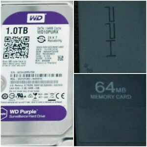 PS2 PLUG & PLAY 1TB Hard Drive & 290 PS2 Games + Network adaptor & FreeMCBoot