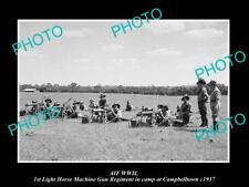 OLD HISTORIC PHOTO OF AIF WWII THE 1st LIGHT HORSE MACHINE GUN REGIMENT c1937