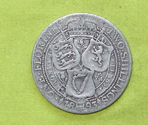 1893 UK Silver FLORIN Coin VICTORIA (1837 - 1901) Combine Postage