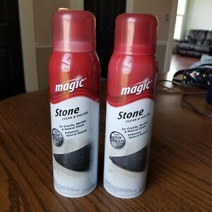 2- Magic Granite Stone Cleaner & Polish Aerosol 17 oz Discontinued