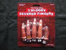 5 x Halloween Severed Bloody Fingers Halloween Props  Chop Shop Bloody Body Part