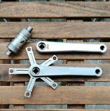 PMP rare vintage light road crankset w/ PMP titanium bottom bracket, EXC++