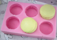 6-cavity Macaron Soap Mold Candle Mold Silicone Mold Silicone Mold Flexible Mold