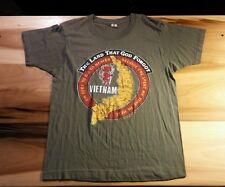 Vtg 80's 1984 Vietnam paper Thin T Shirt Devil Diablo Logo L Military Trucker