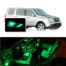 For Honda Pilot 2006-2008 Green LED Interior Kit + Green License Light LED