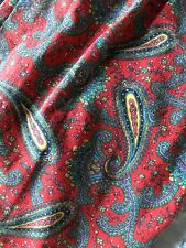 Pair Of Vintage Pleated Paisley Drapes