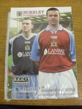 2002/2003 Burnley: Official Merchansise Collection Catalogue. Footy Progs/Bobfra