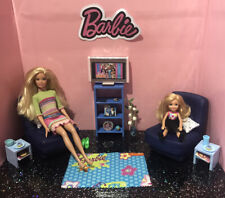 Barbie 💙 Playset; Living Room With Dolls, Furniture & Accessories