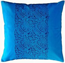 "Paisley Cushion Cover Pillow Case Cotton Block Print 30x30"" X large Floor Cover"