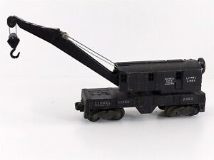 Lionel Postwar 6460 Bucyrus Erie Black Operating Crane Car O 1954 Variation B