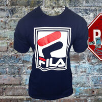 NWT FILA AUTHENTIC MEN'S BLUE CREW NECK SHORT SLEEVE TEE T-SHIRT SIZE M L XL 2XL