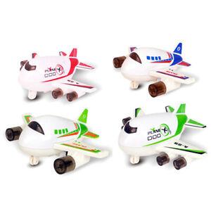 FM_ ALS_ Mini Cartoon Plane Airplane Pull Back Alloy Model Table Decor Kids Toy