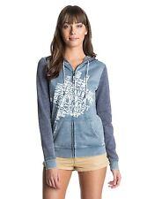 Roxy Woman Small Hoodie Sweater Jacket Tropical Bazaar C Blue Print Zipped