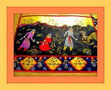 Persian Manuscript, Miniature Paintings, GOLD, Hunting Scene, Handcolored !!!