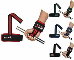Aamron ® Weight Lifting Training Gym Straps Hand Bar Wrist Support Wraps WLS-PSA