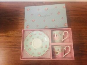 BRAND NEW ESPRESSO CUP AND SAUCER SET OF 2