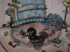 """Gary Patterson """"The Cat Did It"""" Patterson Dachshund Collectors Plate # A 9763"""