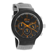 Lacoste Borneo Mens Grey Strap Chronograph Quartz Watch 2010655