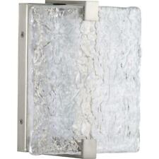 Progress Lighting LED Stone Glass Brushed Nickel Wall Bathroom Sconce