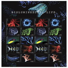 2018 #5264-5273 Bioluminescent Life Pane of 20 Forever Stamps MNH