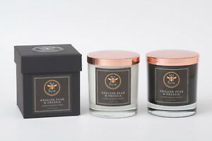 Bea Loves Soy Wax 475g Candle (White): Designer Inspired English Pear & Freesia